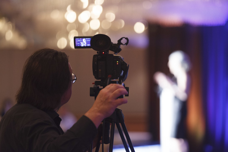 Videographer capturing the NetHope conference