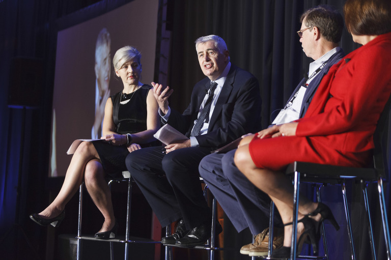Panel members interact at NetHope's conference
