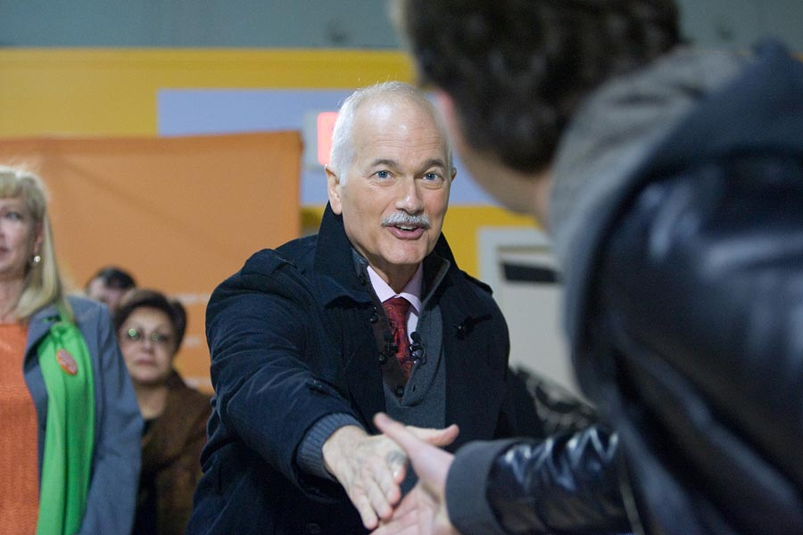 Federal Election Photographer Geoff Howe Jack Layton NDP