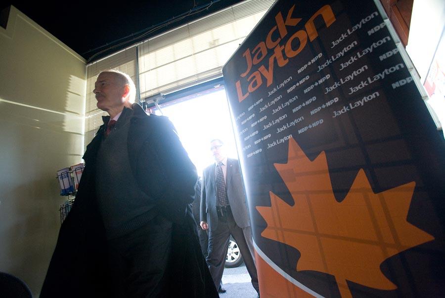 Federal Election Photographer Geoff Howe Jack Layton NDP